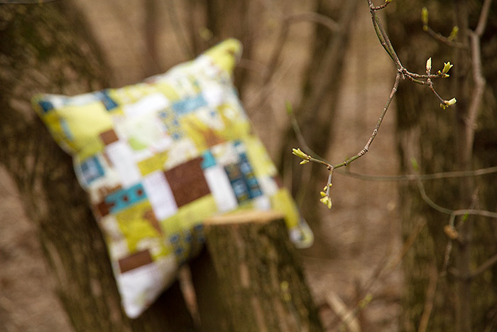 quilt-pillow-in-forest