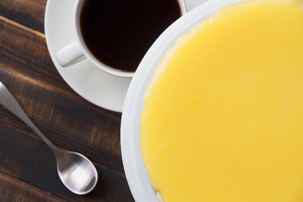 лимонный курд как финишный слой для чизкейка