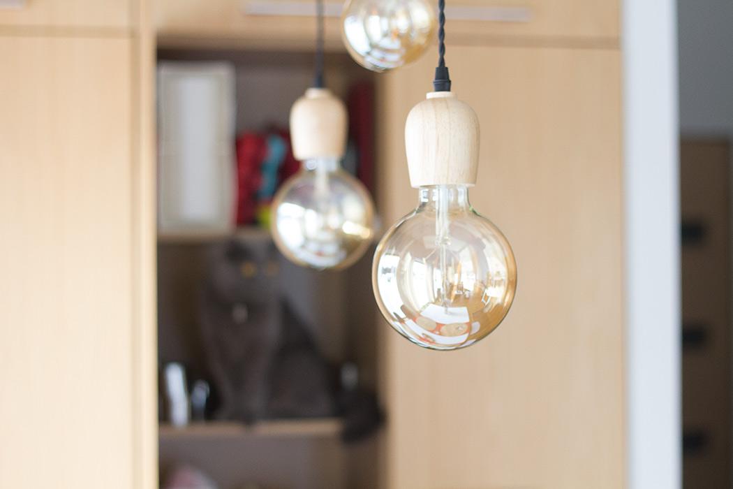 лампы сосновой люстры