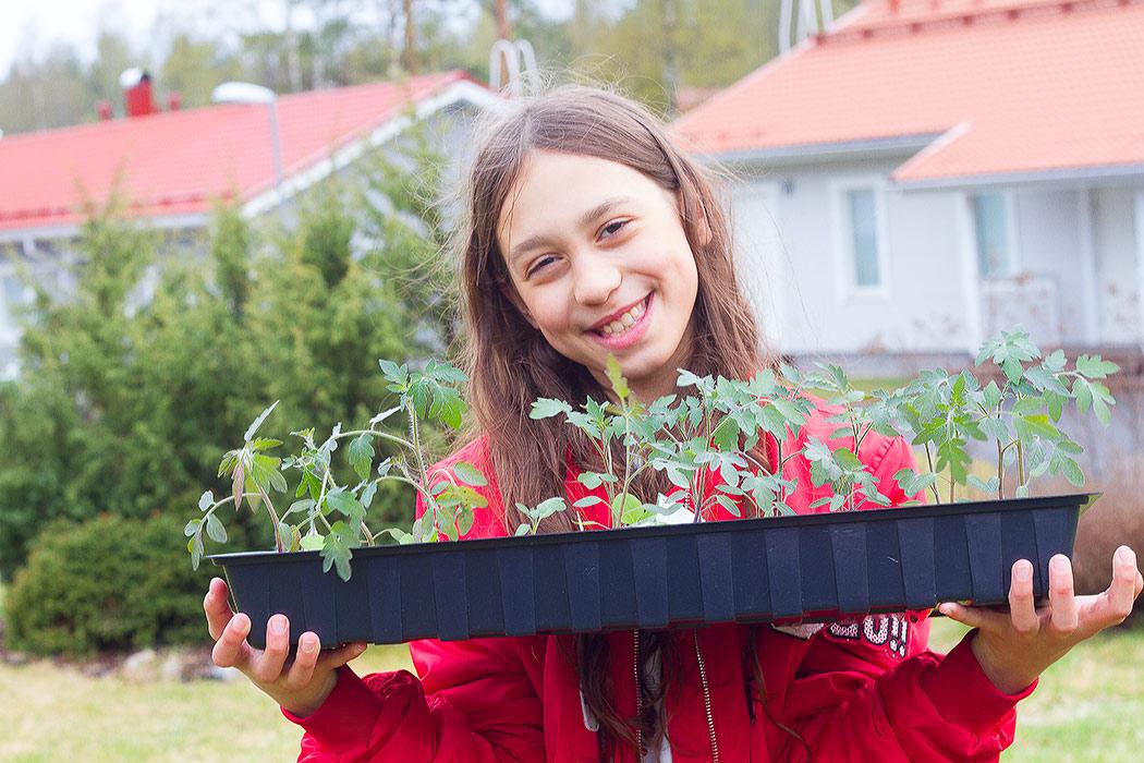 Саша с рассадой