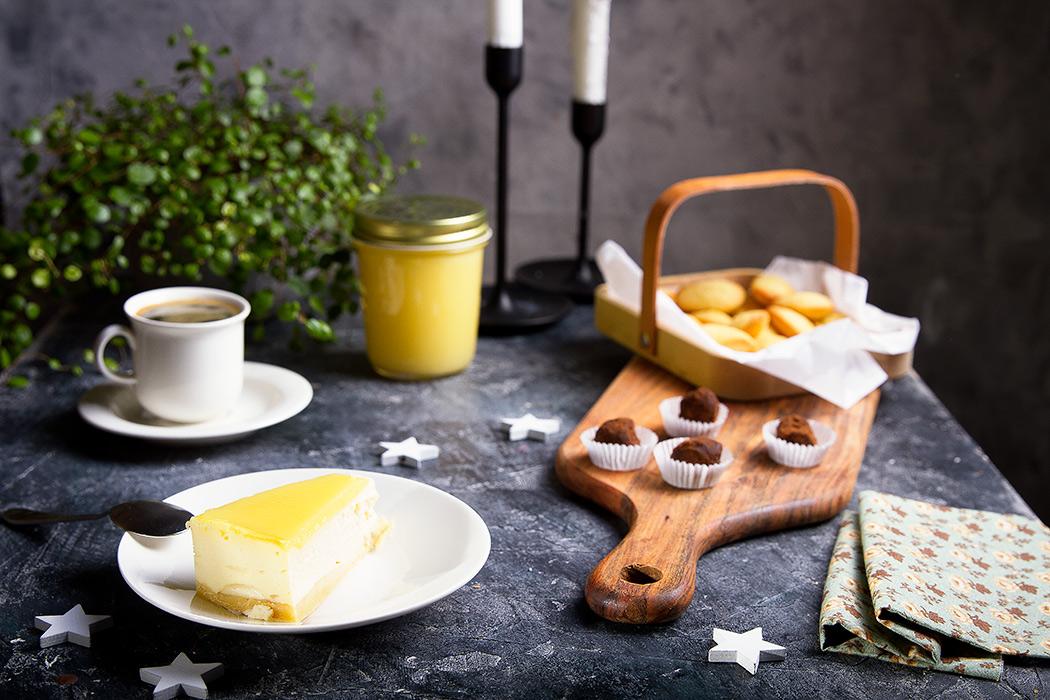 чизкейк с лимонным курдом